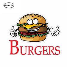 Wholesale 50pcs Lot For Burgers Concession Restaurant Food Funny Car Stickers Vinyl Sunscreen Rv Van Fine Decal Jdm Car Stickers Aliexpress