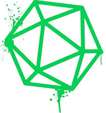 Amazon Com Ngk Trading D20 Dice Green Dripping Paint Dnd Tabletop Rpg Gaming Vinyl Decal Bumper Sticker Wall Laptop Window Sticker 5 Kitchen Dining