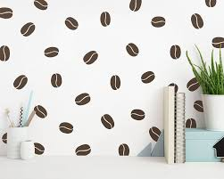 Coffee Bean Wall Decals Modern Wall Decals Unique Wall Decor Removable Wall Stickers Vinyl Wall Decals