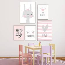 Cartoon Rabbit Paintings Wall Decor Nordic Poster Kids Room Posters And Prints Baby Rooms Nursery Wall Art Nordic Unframed Buy At The Price Of 5 20 In Aliexpress Com Imall Com