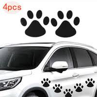 2 Pair 4pcs Handprint Sticker Couple Cool Design Paw Car Sticker 3d Animal Dog Cat Bear Foot Prints Footprint Sticker Car Decal Silver Gold Window Stickers Dog Claw Stickers Wish