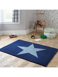 Little Home At John Lewis Star Children S Rug Blue L170 X W110cm Blue Little Houses Childrens Rugs Kids Room Rug