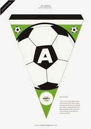Soccer Letter Bunting Free Printable Tomy Bandera De Futbol