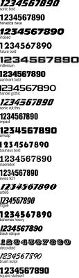 Vinyl Number Decals Trackdecals