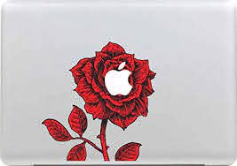 Amazon Com Red Rose Ankey Removable Vinyl Decals Stickers Skin Part Case For Apple Macbook White Air Pro Retina 11 13 15 17 Ipad Laptop Tablet Window Wall Car Desk Book Surfaces Kitchen Dining