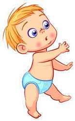Cute Baby Boy Walking Sticker
