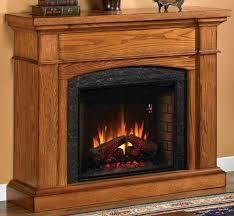wallace electric fireplace oak at