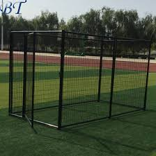 China Easy To Install Galvanized Welded Beautiful Design Metal Dog Kennel Cages China Easy To Install Dog Kennel And Steel Dog Kennel Price