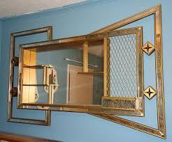 mid century modern bowtie mirrored