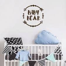 Nursery Wall Decor With Arrow Vinyl Decor Wall Decal Customvinyldecor Com