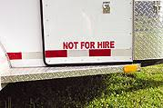 Not For Hire Reflective Trailer Decal Equestrisafe Llc