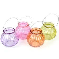 hanging glass ball tealight lanterns
