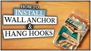 How To Install Wall Anchor Hang Hooks Kids Room Decorating Diy Youtube