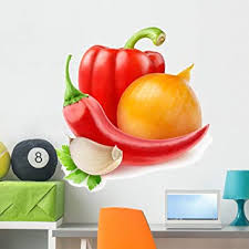 Amazon Com Wallmonkeys Fresh Vegetables Wall Decal Peel And Stick Graphic Wm128362 36 In W X 35 In H Home Kitchen