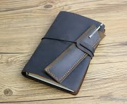 a6 leather refillable planner binder