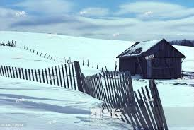 Barn And Snow Fence In Winter St Honore Beauce Quebec Canada Stock Photo Picture And Rights Managed Image Pic Acx Acp28284 Agefotostock