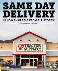 Same Day Delivery Tractor Supply Co