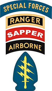 Amazon Com Military Vet Shop Us Army Special Forces Ranger Sapper Airborne Window Bumper Sticker Decal 3 8 Automotive