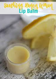 honey lemon homemade lip balm the