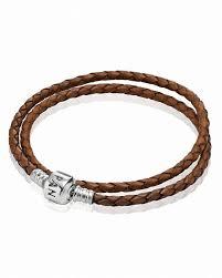 pandora bracelet brown leather double