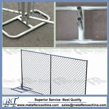China Factory Direct Selling Chain Link Portable Mobile Fence China Temporary Fence Galvanized Temporary Fence
