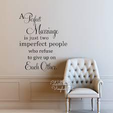 perfect marriage quote vinyl wall decals family wall sticker love