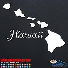 Hawaii Islands Car Window Vinyl Decal Sticker