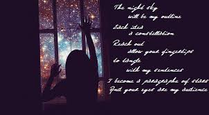 visual poetry quote for stargazing poetic trials