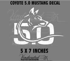 Purchase Coyote 5 0 Mustang Coyote 5 0 Rear Window Decal Motorcycle In Jacksonville North Carolina United States For Us 3 50