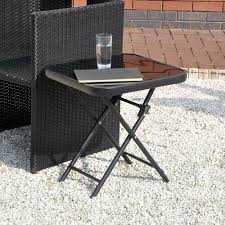 glass top small folding side end table