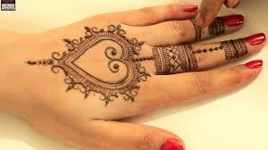 mehndi design easy heart