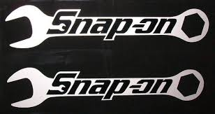 Snap On Wrenches Hq Vinyl Sticker Decals Black On Silver Met 6 X1 2 2 Em Vinyl Sticker Vinyl Decals