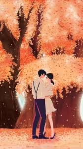 love cute anime couple wallpaper
