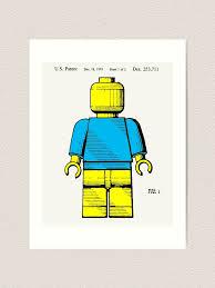 Lego Patent Posters Lego Patent Printable Lego Toys Lego Poster Lego Kids Room Kids Room Wall Art Digital Download Blueprint Art Print By Elenochka Redbubble