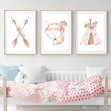 2020 Kids Room Poster Nordic Baby Indian Tent Rabbit Arrow Prints Children Bedroom Decoration Nursery Wall Canvas Painting Gifts Unframed From Maggiequan 9 04 Dhgate Com