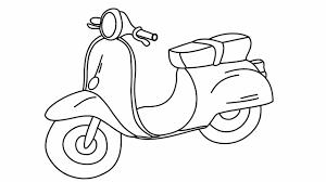 Vẽ Xe Máy Đơn Giản - Motobike Drawing And Coloring - Tranh Tô Màu Phương  Tiện Giao Thông - YouTube