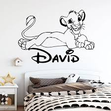 Cartoon Custom Name Wall Sticker For Baby Room Vinyl Wall Decals Wallpaper Stickers Murals Poster Wall Stickers Aliexpress