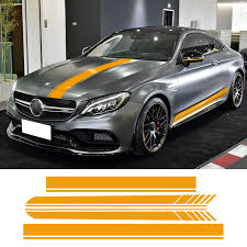 Edition 1 Car Hood Roof Racing Side Skirt Stripes Vinyl Decal Sticker For Mercedes Benz C63 Coupe W205 Amg C200 C250 Accessories Benz W205 Mercedes Benz W205stripe Stripe Aliexpress
