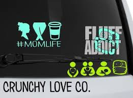 Mom Life Vinyl Decal Crunchy Love Co