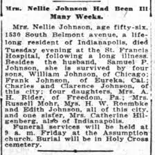 Mrs. Nellie Johnson, Obituary - Newspapers.com