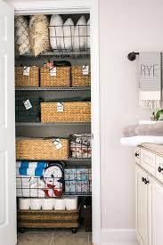 how to linen closet organization