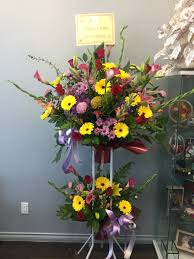 Image result for grand opening flower stand""