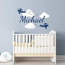 Boy Name Wall Decals Nursery Decor Vinyl Sticker Clouds Etsy