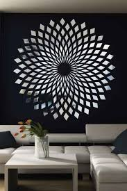 Diamond Starbust Mirror Decal Wall Art Chrome Or Gold 6 Sizes Walltat Com