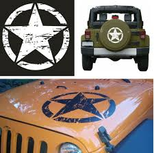 1pcs 50 50cm Car Decal White Star Pattern Vechile Sticker For Suv Jeep Off Road For Sale Online Ebay