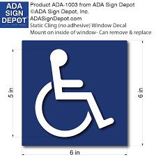 Ada Wheelchair Symbol Window Decals 6 X 6 Pack Of 3 Decals Ada Sign Depot