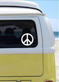 Peace Sign Vinyl Decal Car Decal Laptop Sticker Window Decal Bumper Sticker Hippie Sticker Peace