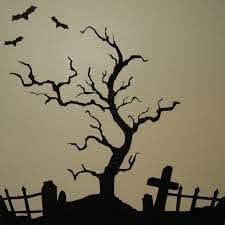 Creepy Halloween Tree Vinyl Wall Art Halloween Graveyard Halloween Window Halloween Trees