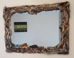 centrepiece driftwood mirror corfu