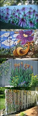 Tired Of Your Old Paling Fence Would Any Of These Help If You Re Tired Of Your Old Paling Fence You Might Find Some Inspira Garden Mural Fence Art Garden Art
